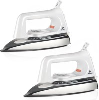 Bajaj Popular plus (pack of 2) 750 W Dry Iron(White)