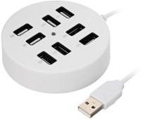 View ReTrack Circular 8 Port USB 2.0 Portable Round USB Hub(White) Laptop Accessories Price Online(ReTrack)