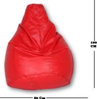 View sudesh decor XL red bean bag Bean Bag  With Bean Filling(Red) Furniture (sudesh decor)