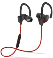 Defloc qc10 headphone 126 Wireless bluetooth Headphone(Red, In the Ear)