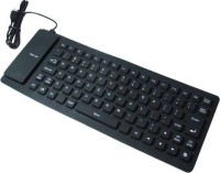 View Dice Water proof Flexible Wired USB Laptop Keyboard(Black) Laptop Accessories Price Online(Dice)