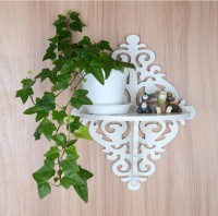 View all crafts art carving shelf MDF Wall Shelf(Number of Shelves - 1, White) Furniture (ALL CRAFTS ART)