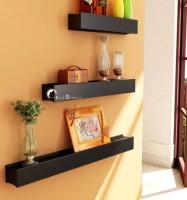 View all crafts art utility wall shelf MDF Wall Shelf(Number of Shelves - 3, Black) Furniture (ALL CRAFTS ART)
