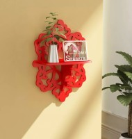 View all crafts art carving shelf MDF Wall Shelf(Number of Shelves - 1, Red) Furniture (ALL CRAFTS ART)
