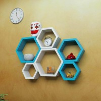 View all crafts art eagezacorner wall shelf MDF Wall Shelf(Number of Shelves - 6, Multicolor) Furniture (ALL CRAFTS ART)