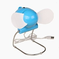 View blue diamond Blue Diamond USB Mini Portable Fan for Desktop, Laptop USB-FAN-002 USB Fan(Blue, White) Laptop Accessories Price Online(Blue Diamond)