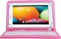 Jkobi Keyboard Case for Videocon VT87C Plus(Pink, Dual Protection, Leather)