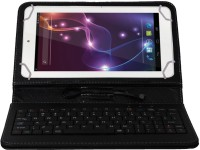 Jkobi Keyboard Case for Lava E-Tab Connect Plus(Black, Dual Protection, Leather)