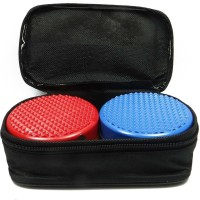 ACUPRESSURE Ahcs-966 Super Power Magnet - Pyramidal Set is Heavy-Weight Bio-Pole Magnet Massager(Blue, Red)