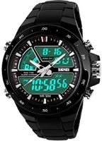 Skmei Analog - Digital Black Dial Men's Watch - 1016 Watch  - For Men
