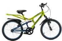 Kross Rebel 20 Inches Single Speed Dual Suspension Kids Bike Yellow & Black 20 T Single Speed Mountain Cycle(Multicolor)