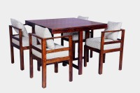 View Home Edge Bayne 4 Seater Dining Set(Finish Color - Teak) Furniture (Home Edge)