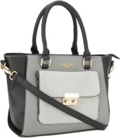 Carlton London Hand-held Bag(Black, Grey)