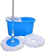 Snowpearl Cleaning Magic 360 Degree Spin with 2 Microfibres Wet & Dry Mop(Multicolor)