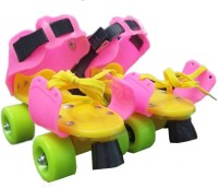 Assemble ADJUSTABLE Roller FOR KIDS SKATING SHOES WITH FRONT BRAKES In-line Skates - Size 5-9 UK(Red, Yellow, Pink, Green, Black)