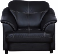 View Cloud9 Titanic Leather 1 Seater(Finish Color - Black) Furniture (Cloud9)