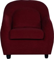 View Cloud9 Cuties Fabric 1 Seater(Finish Color - Wine) Furniture (Cloud9)