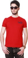 People Solid Men Round Neck Red T-Shirt thumbnail