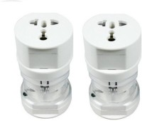View BB4 PACK OF 2 International Universal Worldwide Adaptor(White) Laptop Accessories Price Online(BB4)