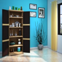 Nilkamal Freedom Mini Large (FML) Plastic Free Standing Cabinet(Finish Color - Weathered Brown & Biscuit)