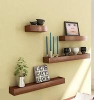 View Artesia SCFP-513 Wooden Wall Shelf(Number of Shelves - 4, Brown) Furniture (Artesia)