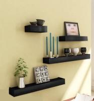 View Artesia SCFP-542 Wooden Wall Shelf(Number of Shelves - 4, Black) Furniture (Artesia)
