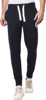 Alan Jones Solid Men Black Track Pants