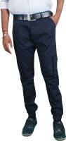 MJstudio Slim Fit Men's Blue Trousers thumbnail