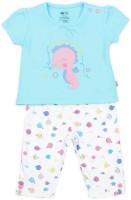Mini Klub Kids Nightwear Girls Printed Cotton(Blue Pack of 1)