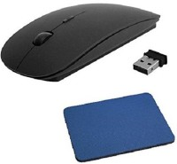 View ddice wireless 2.4GHz mouse with mouse pad Wireless Optical Mouse(USB, Black, Blue) Laptop Accessories Price Online(DDice)