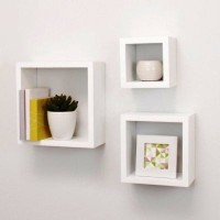 View Docerasia Square Nesting White MDF Wall Shelf(Number of Shelves - 3, White) Furniture (Docerasia)