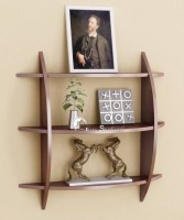 View Masterwood rank shape MDF Wall Shelf(Number of Shelves - 3, Brown) Furniture (Masterwood)