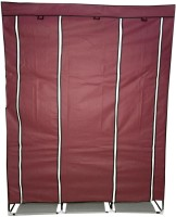 View GTB Carbon Steel Collapsible Wardrobe(Finish Color - Maroon) Furniture (GTB)
