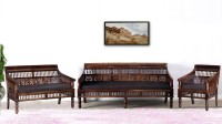 View Vintej Home Fabric 3 + 2 + 1 Walnut Sofa Set Furniture (VINTEJ HOME)