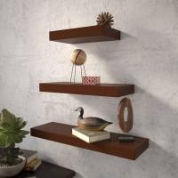 View Masterwood singalar MDF Wall Shelf(Number of Shelves - 3, Brown) Furniture (Masterwood)