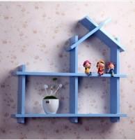 View all crafts art MDF Wall Shelf(Number of Shelves - 3, Blue) Furniture (ALL CRAFTS ART)