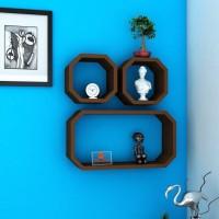 View Masterwood ractangular MDF Wall Shelf(Number of Shelves - 3, Brown) Furniture (Masterwood)