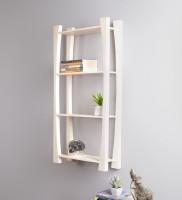 View La Stella Cream Wooden, MDF Wall Shelf(Number of Shelves - 4) Furniture (La Stella)