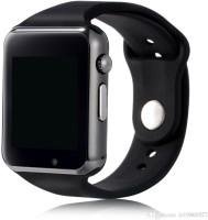 SUNRISE A1 BLACK SMART WATCH Smartwatch(Black Strap, REGULAR)