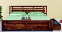View VINTEJ HOME Solid Wood Queen Bed With Storage(Finish Color -  WALNUT) Furniture (VINTEJ HOME)
