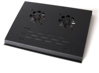 View ReTrack Ultra-Thin Two-Fan Notebook Cooling Pad(Black) Laptop Accessories Price Online(ReTrack)