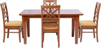 View shop klass Solid Wood 4 Seater Dining Set(Finish Color - teak wood) Furniture (shop klass)