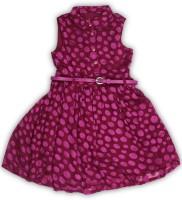 Allen Solly Junior Girls Midi/Knee Length Casual Dress(Pink, Sleeveless)