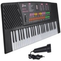 ZURIE TOY COLLECTION 54 Keys Electronic Keyboard for kids with mic and adopter(Black)