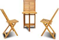 View Auspicious Home Oil, Teak Color Solid Wood Table & Chair Set(Finish Color - Oil, Teak Color) Furniture (Auspicious Home)