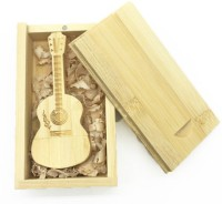 Green Tree Wooden Guitar with Box 32 GB Pen Drive(Gold)