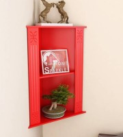 View ALL CRAFTS ART AMERA MDF Wall Shelf(Number of Shelves - 2, Red) Furniture (ALL CRAFTS ART)