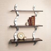 View ALL CRAFTS ART SHELFING MDF Wall Shelf(Number of Shelves - 3, Brown, Steel) Furniture (ALL CRAFTS ART)