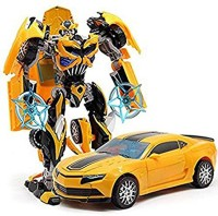 P17 collection Robot to Car Converting Transformer Toy For Kids(Yellow)