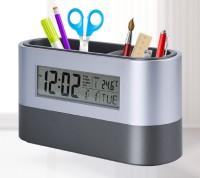 Tuelip Digital Snooze Alarm Clock with Pen Holder Clock